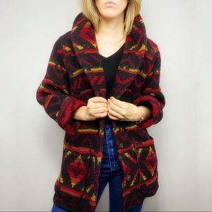 Woolrich vintage Aztec heavy knit coat jacket